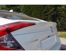 Honda Civic Sedan X 2016+ гг. Спойлер Анатомик (под покраску)