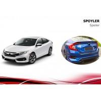 Спойлер Niken V3 (под покраску) для Honda Civic Sedan X 2016+