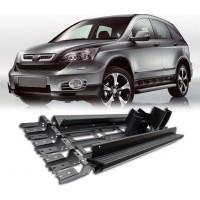 Боковые пороги Niken (2 шт., алюминий) для Honda CRV 2007-2011
