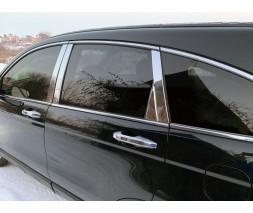 Honda CRV 2007-2011 гг. Молдинг дверных стоек (6 шт, нерж.)
