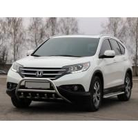 Передняя защита WT003 (нерж.) для Honda CRV 2012-2016
