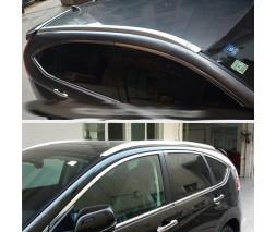Honda CRV 2012-2016 гг. Рейлинги дизайн V2 (пластиковые)