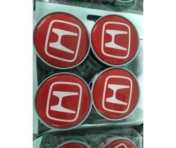 Honda FIT/Jazz 2009-2013 гг. Колпачки в титановые диски 55 мм V2 (4 шт)