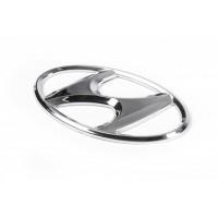 Эмблема (самоклейка, 125 мм на 65 мм) для Hyundai Accent 2006-2010