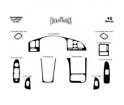 Hyundai Elantra 2006-2011 гг. Накладки на панель Дерево