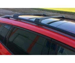 Hyundai Elantra 2011-2015 гг. Перемычки на рейлинги без ключа (2 шт) Серый