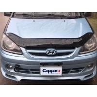 Дефлектор капота 2006-2021 (EuroCap) для Hyundai Getz