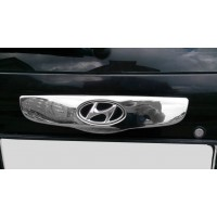 Накладка над номером (2002-2006, нерж.) для Hyundai Getz