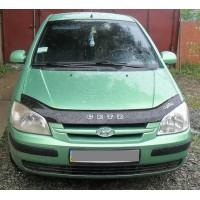 Hyundai Getz Дефлектор капота 2002-2005 (VIP)