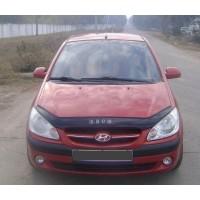 Дефлектор капота 2006-2021 (VIP) для Hyundai Getz