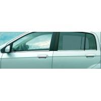 Наружняя окантовка стекол (6 шт, нерж.) OmsaLine - Итальянская нержавейка для Hyundai Getz