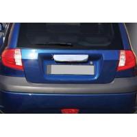Накладка над номером (2006-2021, нерж) для Hyundai Getz