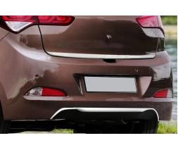Hyundai I-20 2014-2018 гг. Накладка на вторец бампера (нерж)
