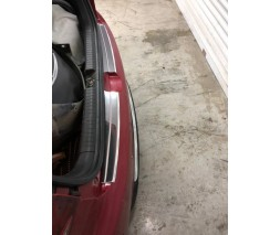 Hyundai I-20 2014-2018 гг. Накладки на задний бампер Carmos (Active, 2 част, нерж)