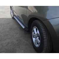 Боковые пороги OEM-BMW-V2 (2 шт, пластик) для Hyundai IX-35 2010-2015