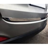 Hyundai IX-35 2010-2015 гг. Кромка багажника (нерж.) OmsaLine - Итальянская нержавейка