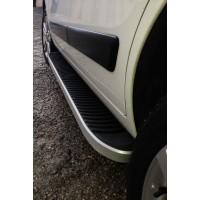 Hyundai Kona Боковые пороги Tayga Grey (2 шт., алюминий)