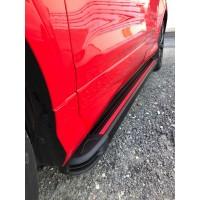 Hyundai Kona Боковые пороги Maya Red (2 шт., алюминий)