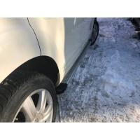 Hyundai Kona Боковые пороги Maya V2 (2 шт., алюминий)