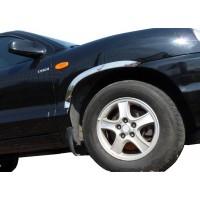 Накладки на арки 2006-2009 (4 шт, нерж) для Hyundai Santa Fe 2 2006-2012