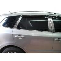 Hyundai Santa Fe 2 2006-2012 гг. Молдинг дверных стоек (6 шт, нерж.)