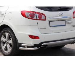 Hyundai Santa Fe 2 2006-2012 гг. Задние двойные уголки AK003-Double (нерж.)