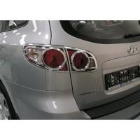 Hyundai Santa Fe 2 2006-2012 гг. Накладки на стопы (2 шт, пласт)