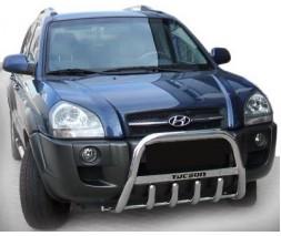 Hyundai Tucson JM 2004+ гг. Кенгурятник WT004 (нерж.)
