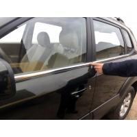 Hyundai Tucson JM 2004+ гг. Окантовка стекла (4 шт, нерж)