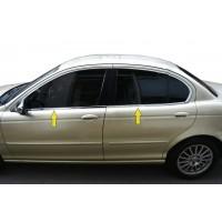 Нижняя окантовка стекол (нерж) для Jaguar X-Type
