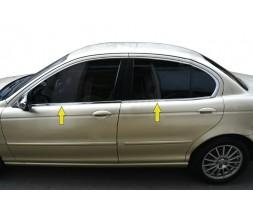 Jaguar X-Type Нижняя окантовка стекол (нерж)
