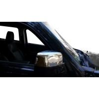 Накладки на зеркала (2 шт, нерж.) для Jeep Cherokee/Liberty 2007-2013