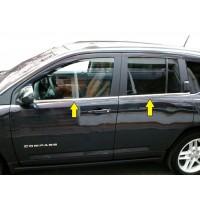 Нижняя окантовка стекол (нерж) для Jeep Compass 2006-2016