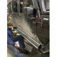 Jeep Wrangler 2007-2017 гг. Боковые подножки Silver (2 шт)