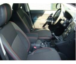 Kia Carens 1999-2012 гг. Авточехлы из экокожи Premium