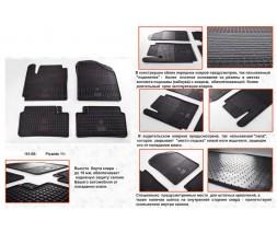 Kia Picanto 2011-2016 гг. Резиновые коврики (4 шт, Stingray Premium)