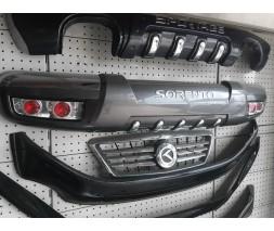 Kia Sorento 2002-2009 гг. Задняя накладка 0401 (пластик)