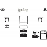 Kia Sorento 2002-2009 гг. Накладки на панель Вариант 2 (2003-2007) Дерево