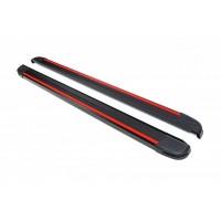 Боковые пороги Maya Red-Black (2 шт., алюминий) для Kia Sportage 2010-2015