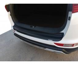 Kia Sportage 2015+ гг. Накладка на задний бампер EuroCap (ABS)