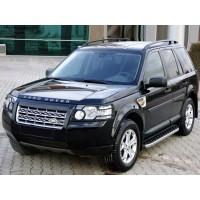 Боковые пороги BlackLine (2 шт, алюминий) для Land Rover Discovery III