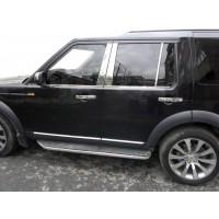 Окантовка стекол (4 шт, нерж.) для Land Rover Discovery IV