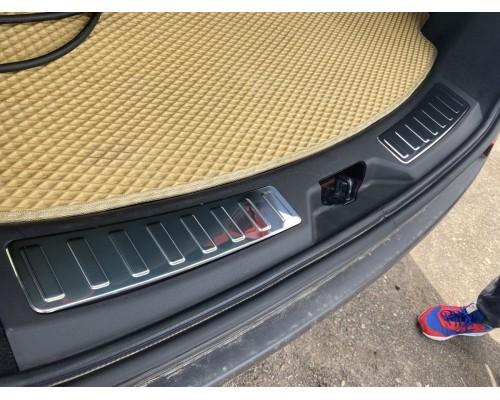 Накладка на задний порог (2 шт, нерж) для Land Rover Discovery Sport