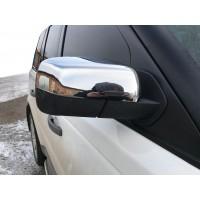 Накладки на зеркала (2 шт, нерж.) для Land Rover Freelander II