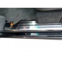 Накладки на внутренние пороги OmsaLine (4 шт, нерж) для Range Rover III L322 2002-2012