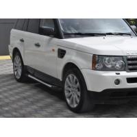 Боковые пороги Allmond Grey (2 шт., алюминий) для Range Rover Sport 2005-2013