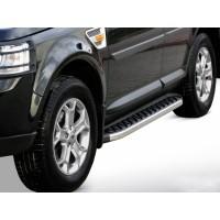 Боковые пороги BlackLine (2 шт, алюминий) для Range Rover Sport 2005-2013