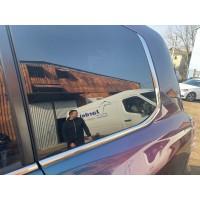 Обводка-уголки заднего стекла (2 шт, нерж) для Lexus LX570 / 450d