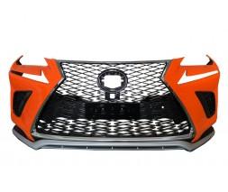 Lexus NX Бампер с решеткой в дизайне 2017-2021 (2014-2017)
