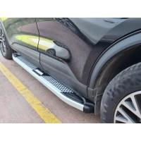 Боковые пороги Mevsim Grey (2 шт, алюминий) для Lexus RX 2009-2015